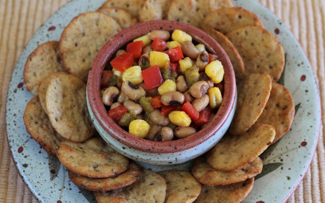 Black-eyed pea and Hominy Texas Caviar