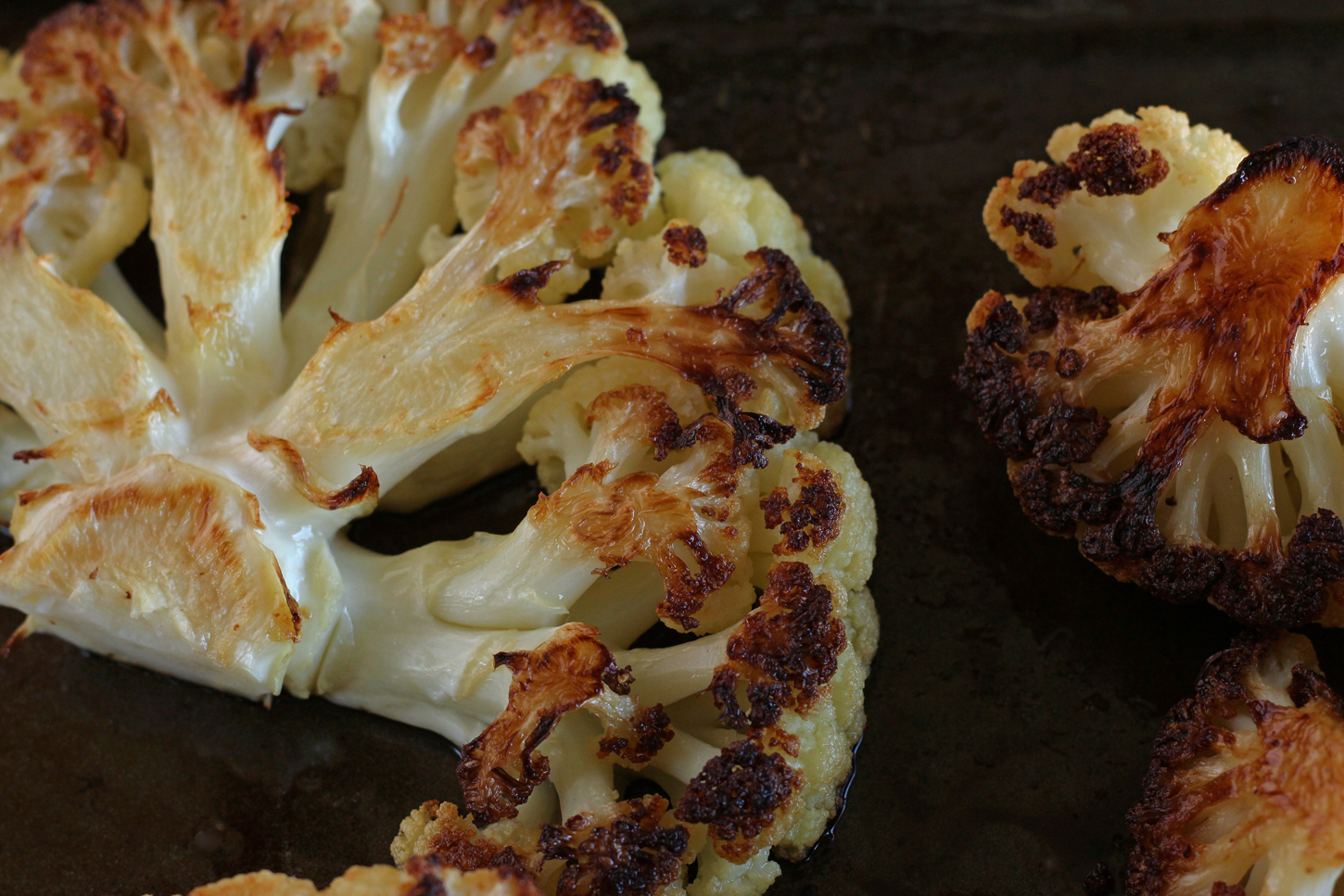 Roasted cauliflower without sumac