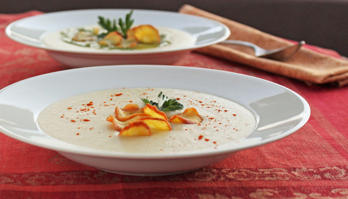 Parsnip puree soup | thetasteworkshop.com