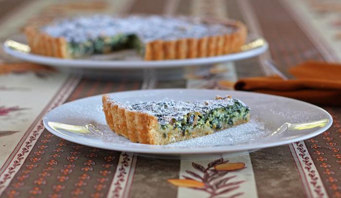 Swiss Chard hazelnut dessert tart