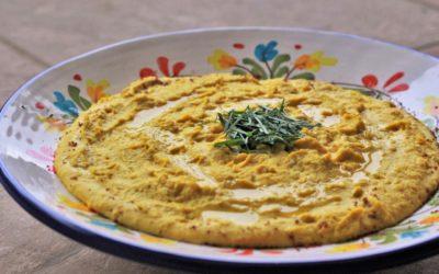 Golden Horseradish Hummus