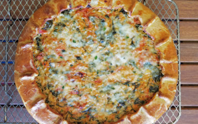 Corn, Tomato and Spinach Olive-Oil Galette