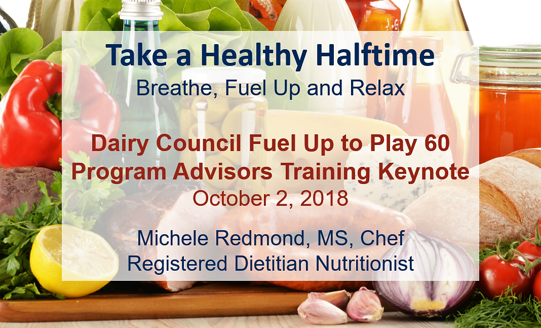 Healthy Halftime Dairy Council Keynote