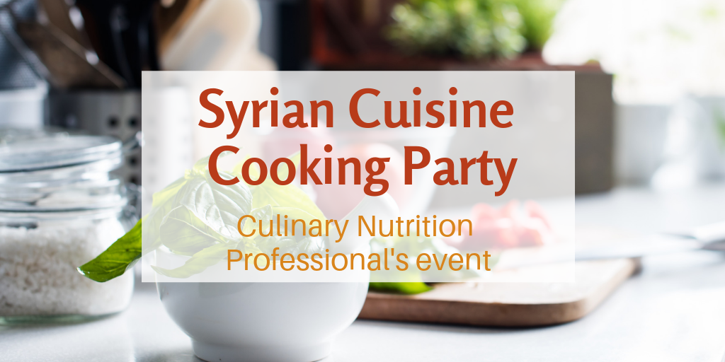 Syrian cuisine cooking party